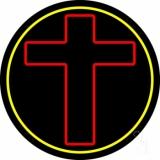 Red Christian Cross LED Neon Sign