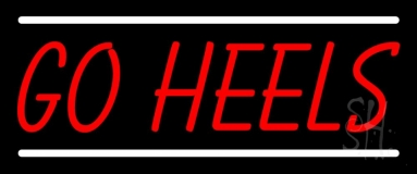 Red Go Heels LED Neon Sign