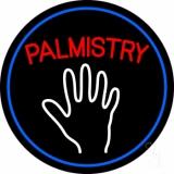 Red Palmistry Blue Border LED Neon Sign
