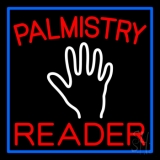Red Palmistry Reader LED Neon Sign