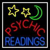 Red Psychic Blue Readings White Border LED Neon Sign