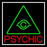 Red Psychic Green Logo LED Neon Sign