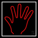 Red Psychic Palm With White Border LED Neon Sign