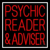 Red Psychic Reader And Advisor With Border LED Neon Sign