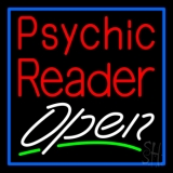 Red Psychic Reader White Open LED Neon Sign