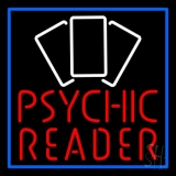 Red Psychic Reader With Cards LED Neon Sign