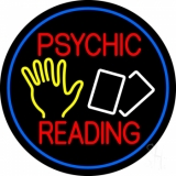 Red Psychic Readings With Logo And Border LED Neon Sign
