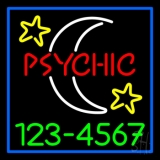 Red Psychic White Logo Green Phone Number LED Neon Sign
