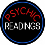 Red Psychic White Readings With Border LED Neon Sign