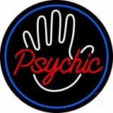 Red Psychic With Border LED Neon Sign