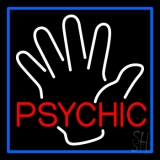Red Psychic With Palm LED Neon Sign