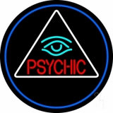 Red Psychic With Turquoise Eye LED Neon Sign