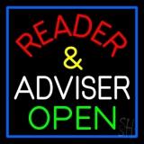 Red Reader And White Advisor Open LED Neon Sign