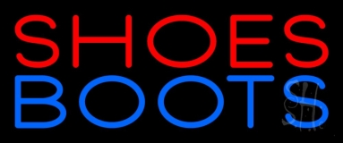 Red Shoes Blue Boots LED Neon Sign
