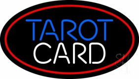 Red Tarot Card LED Neon Sign