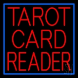 Red Tarot Card Reader Block And Border LED Neon Sign