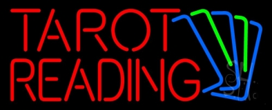 Red Tarot Reading With Cards LED Neon Sign