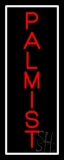 Red Vertical Palmist White Border Neon Sign