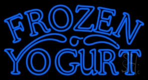 Blue Frozen Yogurt LED Neon Sign