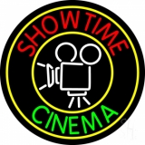 Showtime Cinema With Logo LED Neon Sign