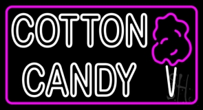 Double Stroke Cotton Candy With Logo LED Neon Sign