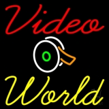 Video World With Logo LED Neon Sign