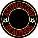 White Astrology Readings Yellow Border LED Neon Sign