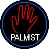 White Palmist Red Palm Blue Border LED Neon Sign