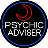 White Psychic Advisor With Logo LED Neon Sign