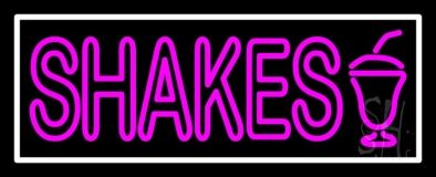Double Stroke Shakes LED Neon Sign