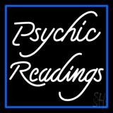 White Psychic Readings With Border LED Neon Sign