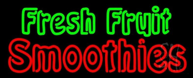 Double Stroke Fresh Fruit Smoothies LED Neon Sign