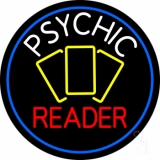 White Psychic Red Reader Yellow Cards And Blue Border LED Neon Sign