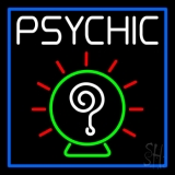 White Psychic With Border LED Neon Sign
