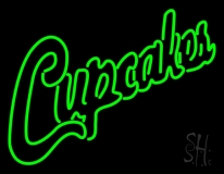 Green Cupcakes LED Neon Sign