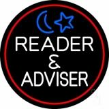 White Reader And Advisor Red Border LED Neon Sign