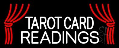 White Tarot Card Readings LED Neon Sign