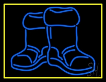 Winter Boots With Border LED Neon Sign