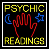 Yellow Psychic Readings With Palm LED Neon Sign