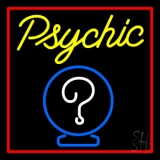 Yellow Psychic With Red Border LED Neon Sign