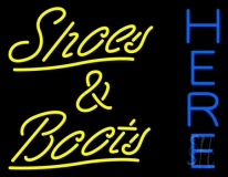 Yellow Shoes And Boots Here LED Neon Sign