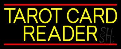 Yellow Tarot Card Reader Block LED Neon Sign