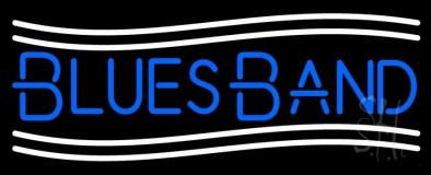 Blue Blues Band LED Neon Sign