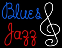 Blue Blues Red Jazz LED Neon Sign