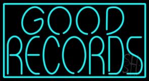 Blue Good Records Border LED Neon Sign