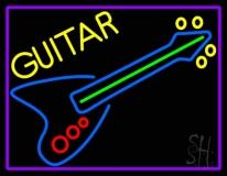 Blue Guitar 4 LED Neon Sign