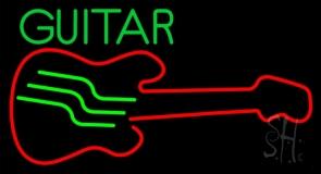 Blue Guitar 5 LED Neon Sign