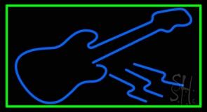 Blue Guitar 6 LED Neon Sign