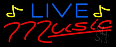 Blue Live Red Music LED Neon Sign