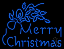Blue Merry Christmas LED Neon Sign